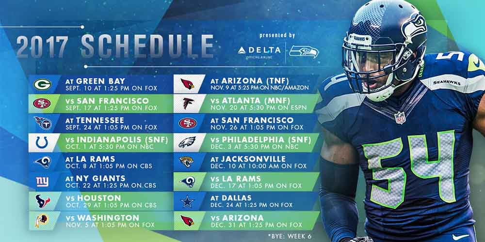 Seattle Seahawks Schedule 2017